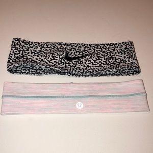 Nike & Lululemon headbands